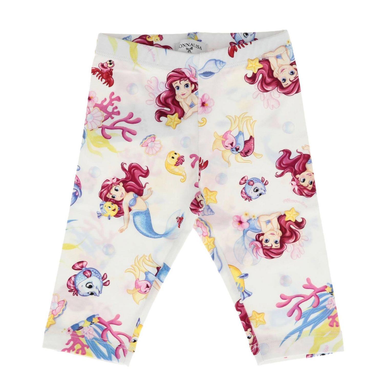 Pantalon enfant Monnalisa Bebe' blanc 1