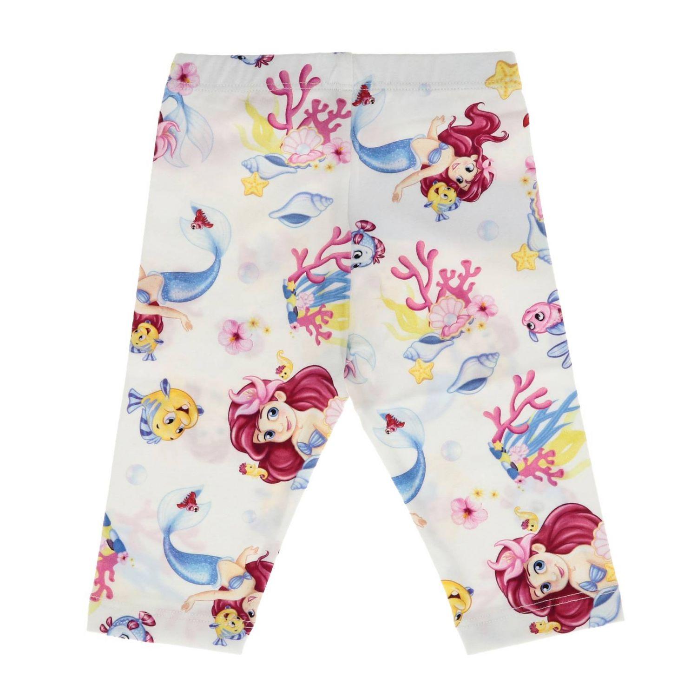 Pantalon enfant Monnalisa Bebe' blanc 2