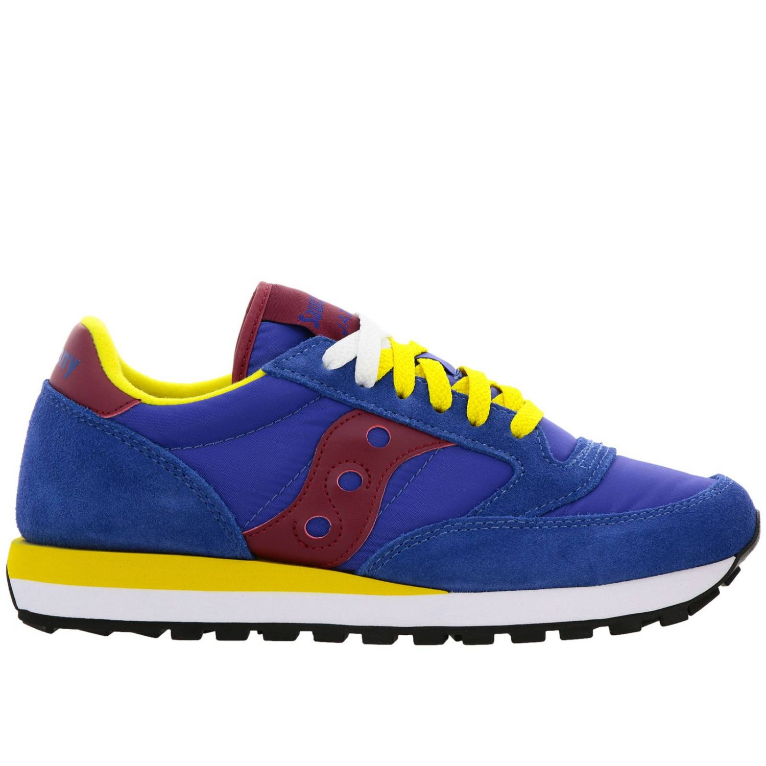 Sneakers Jazz Original Men Saucony in pelle scamosciata pelle liscia e nylon con intersuola Eva blue 1