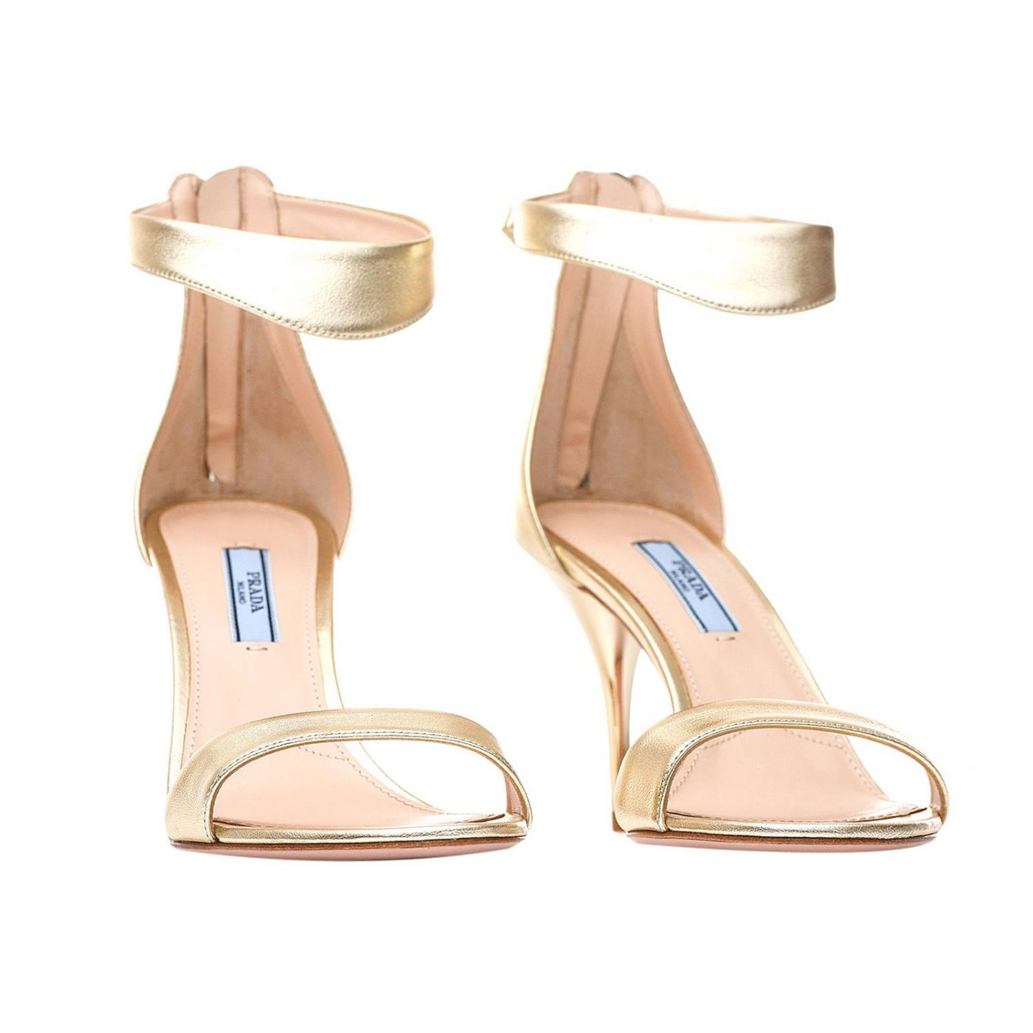 Flat sandals women Prada platinum 2