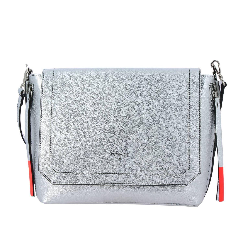Shoulder bag women Patrizia Pepe silver 1