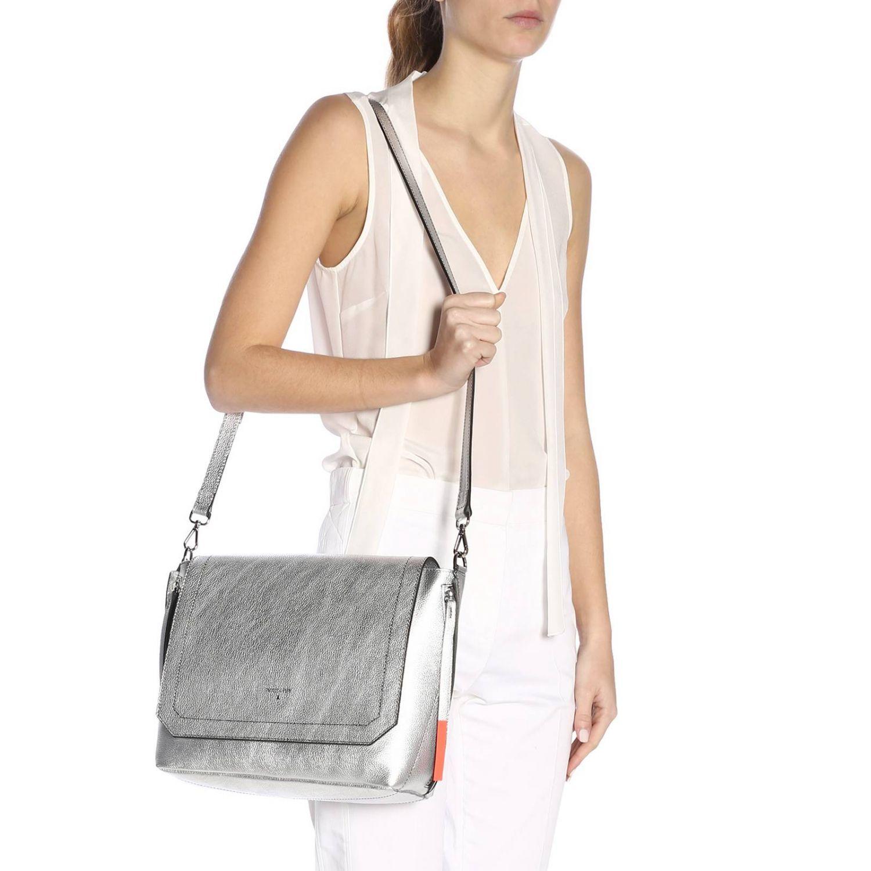 Shoulder bag women Patrizia Pepe silver 2