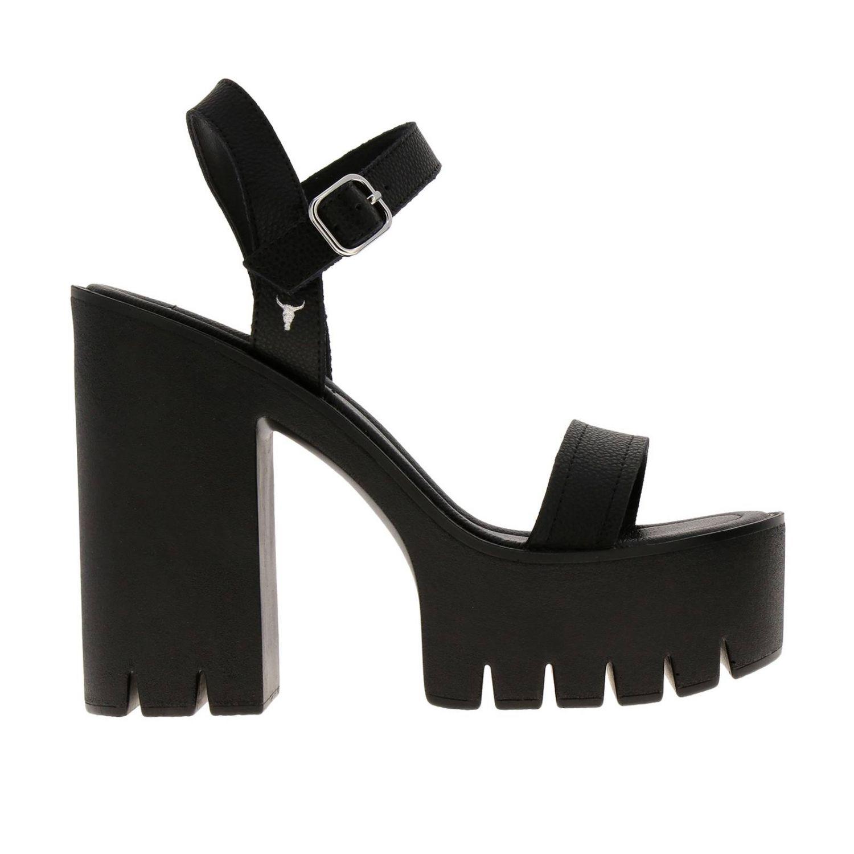 High heel shoes women Windsorsmith black 1