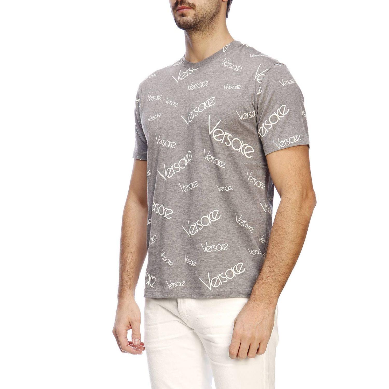 T-shirt herren Versace grau 2