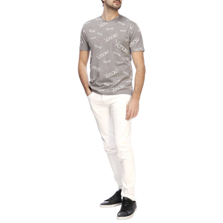 T-shirt herren Versace grau 4