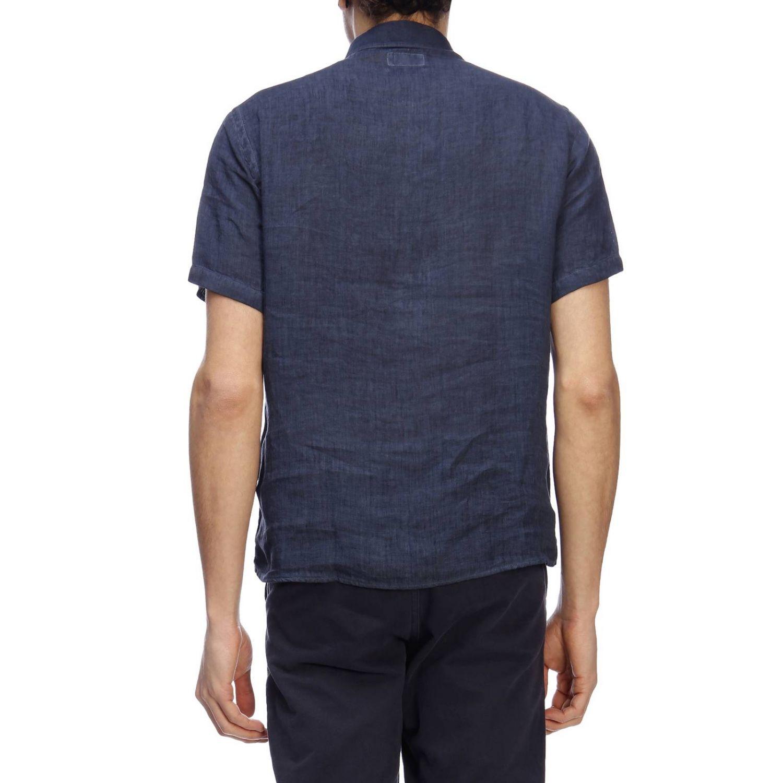 Polo Brooksfield basic a maniche corte in lino blue 3