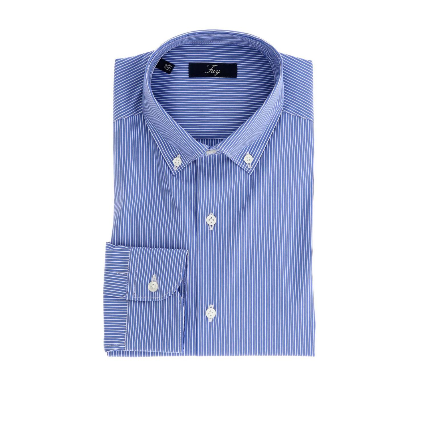 Shirt men Fay gnawed blue 1