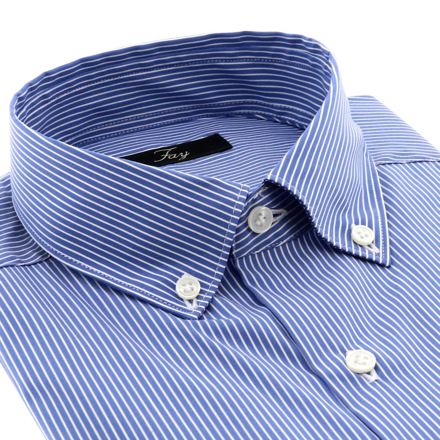 Shirt men Fay gnawed blue 2