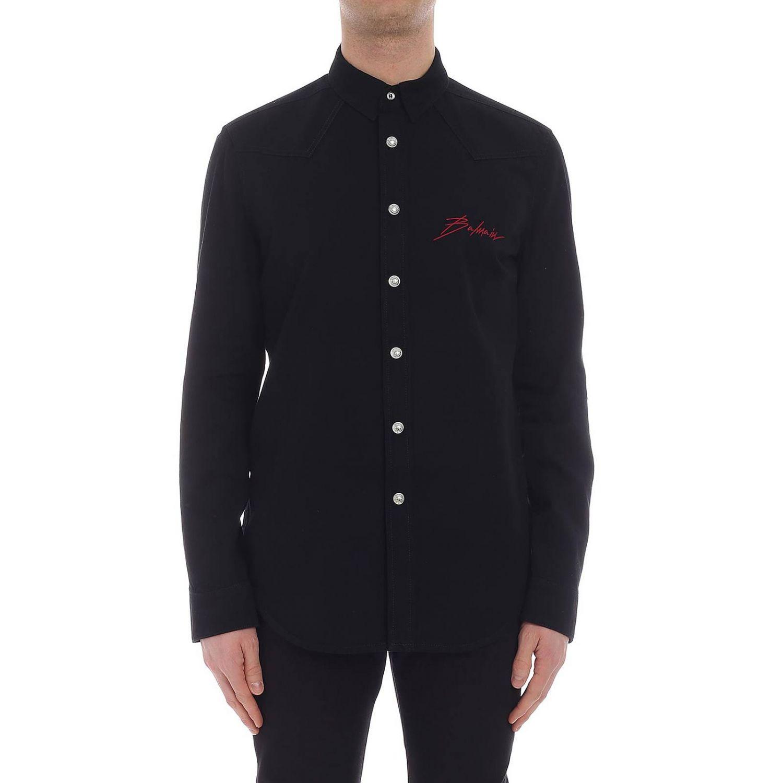 Camisa hombre Balmain negro 1