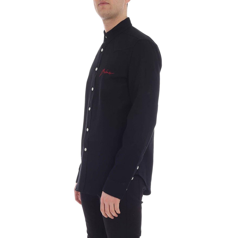 Camisa hombre Balmain negro 2