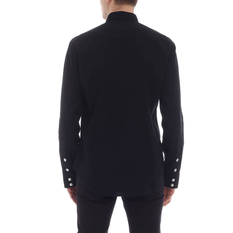 Camisa hombre Balmain negro 3