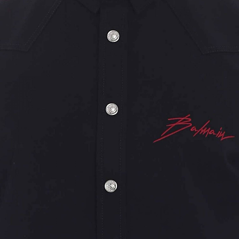 Camisa hombre Balmain negro 4