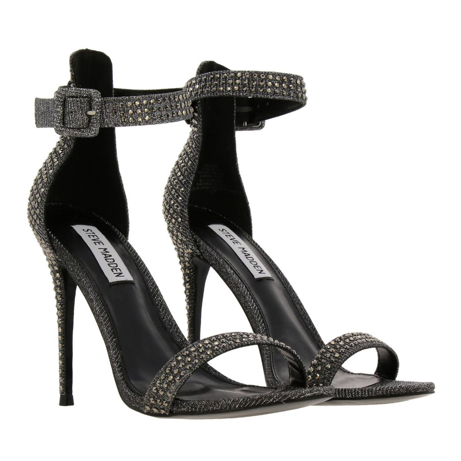 Heeled sandals women Steve Madden grey 2