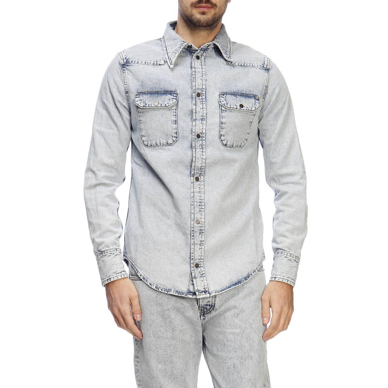 Shirt men Calvin Klein Jeans Established 1978 gnawed blue 1
