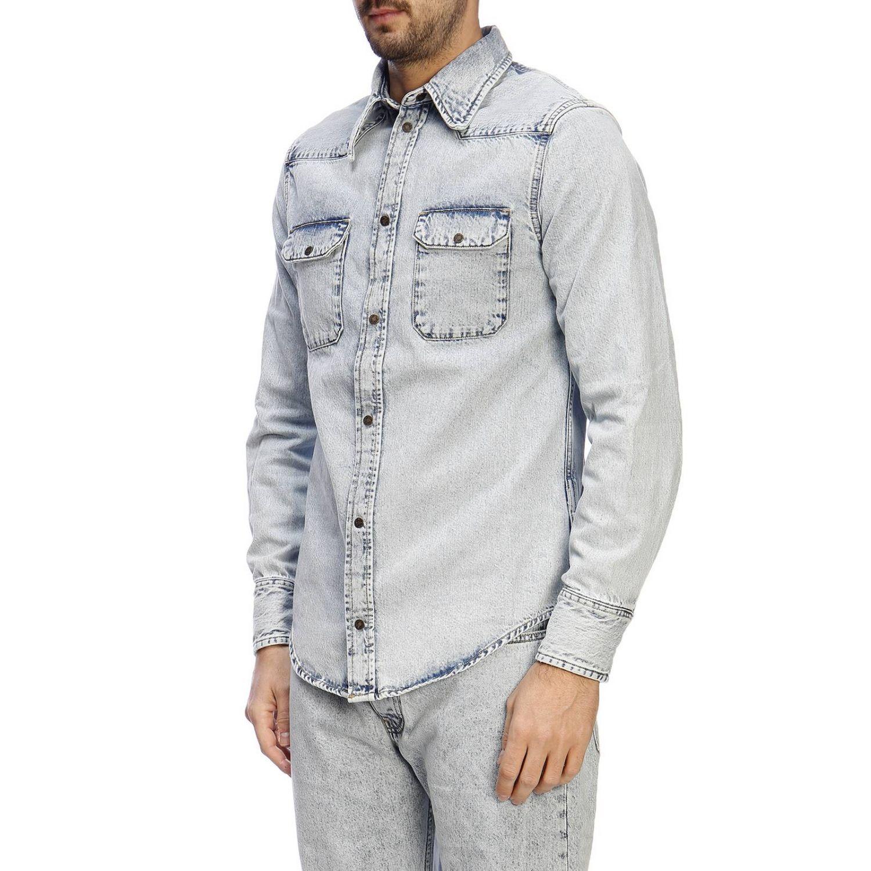 Shirt men Calvin Klein Jeans Established 1978 gnawed blue 2
