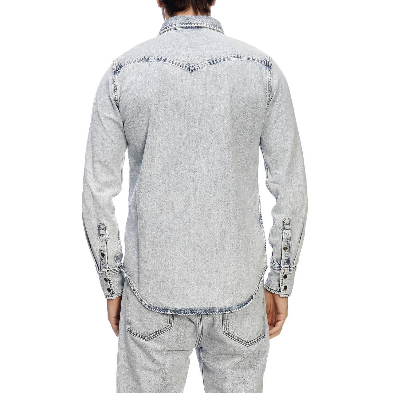 Shirt men Calvin Klein Jeans Established 1978 gnawed blue 3