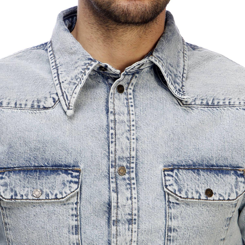 Shirt men Calvin Klein Jeans Established 1978 gnawed blue 4