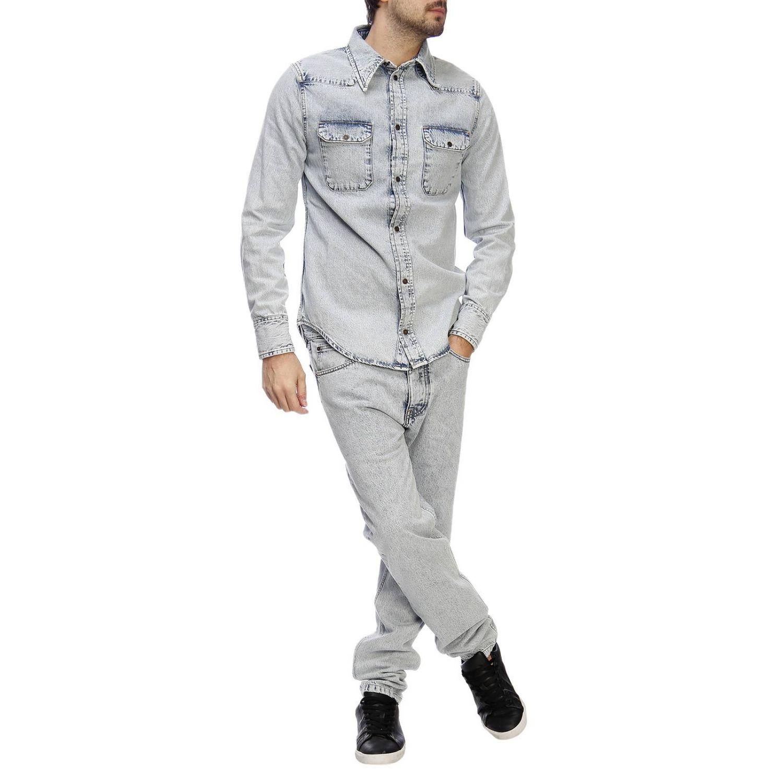Shirt men Calvin Klein Jeans Established 1978 gnawed blue 5