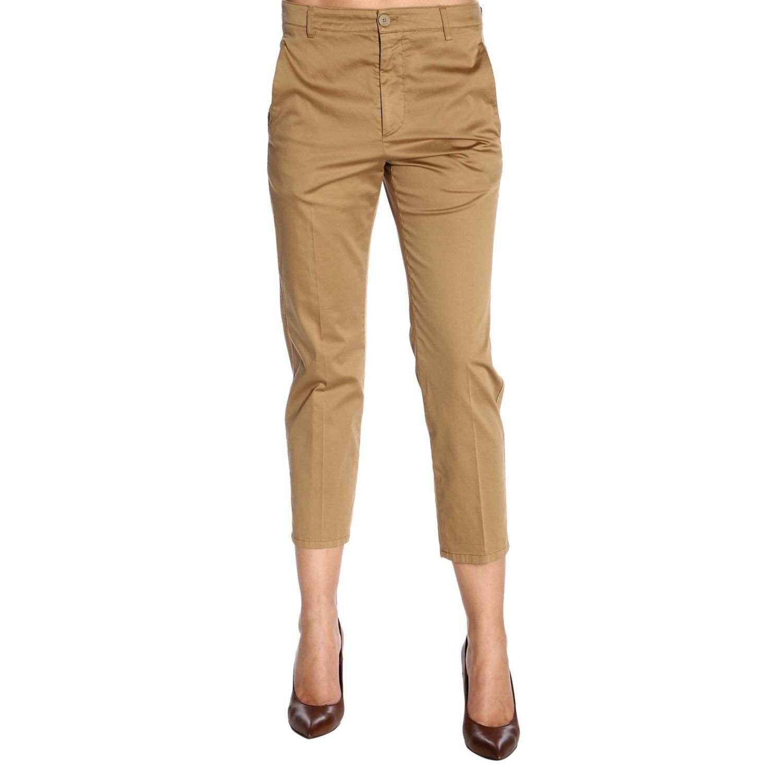 Trousers women Dondup camel 1