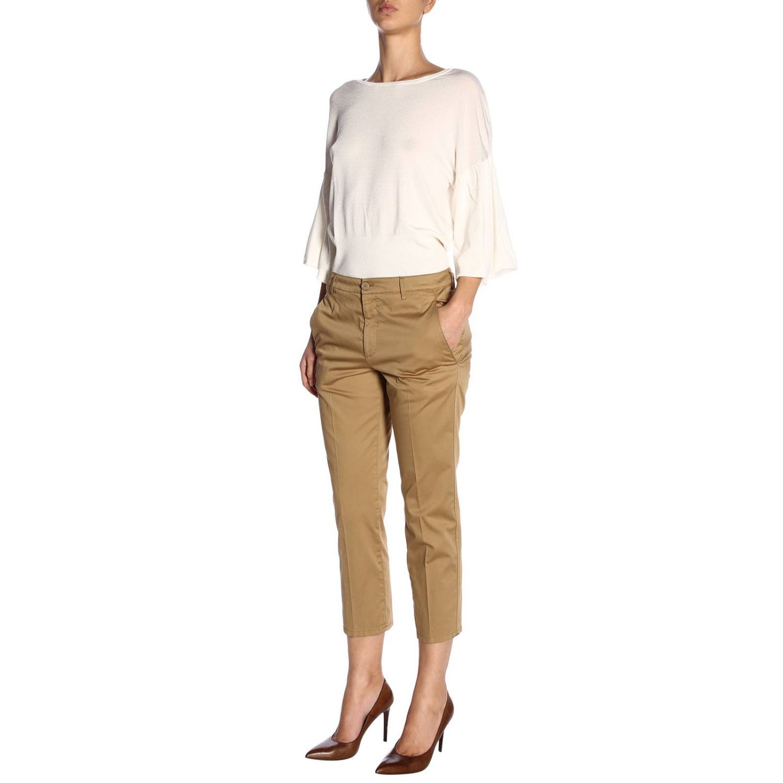 Trousers women Dondup camel 4