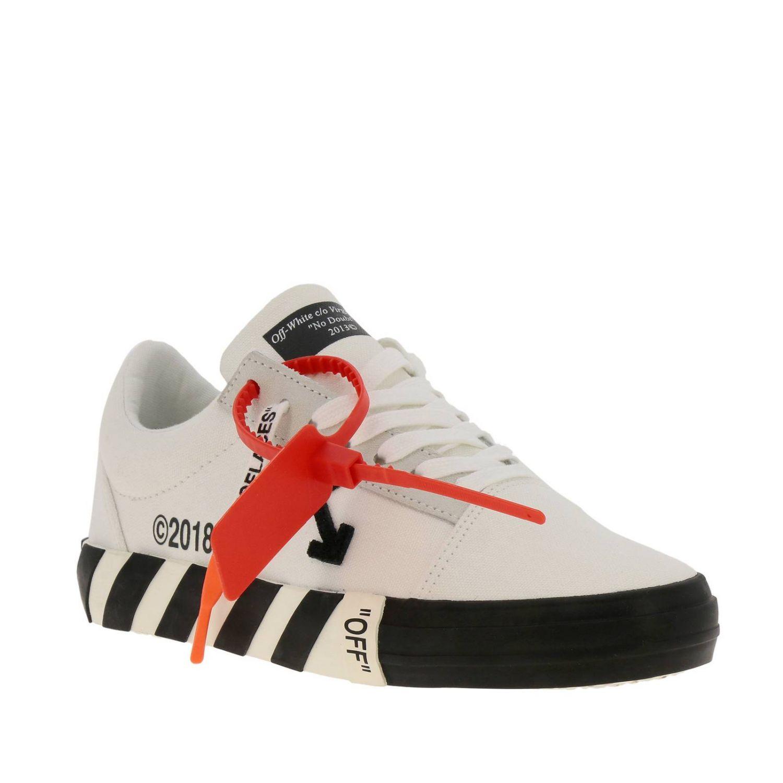 Sneakers in pelle con logo Off White bianco 2