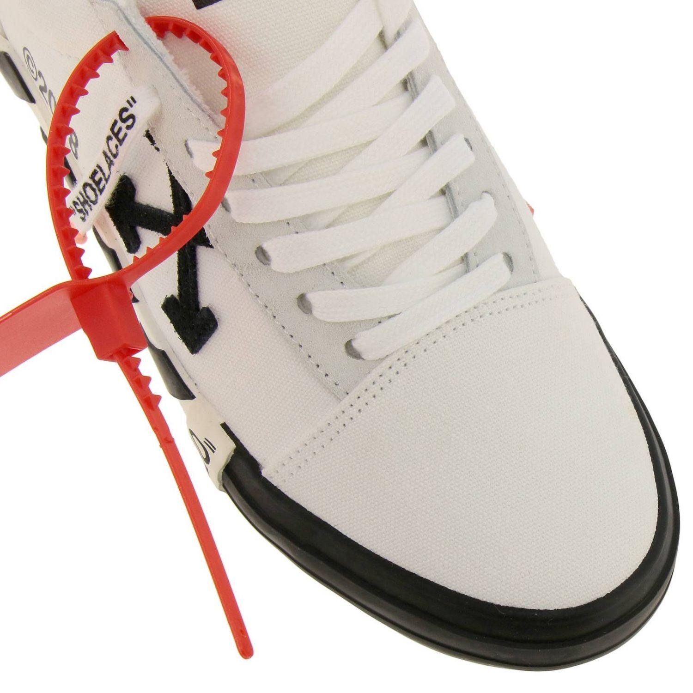 Sneakers in pelle con logo Off White bianco 3