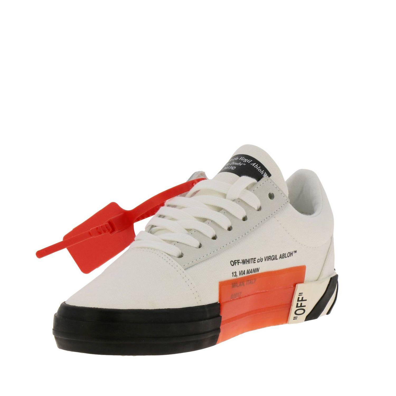 Sneakers in pelle con logo Off White bianco 4