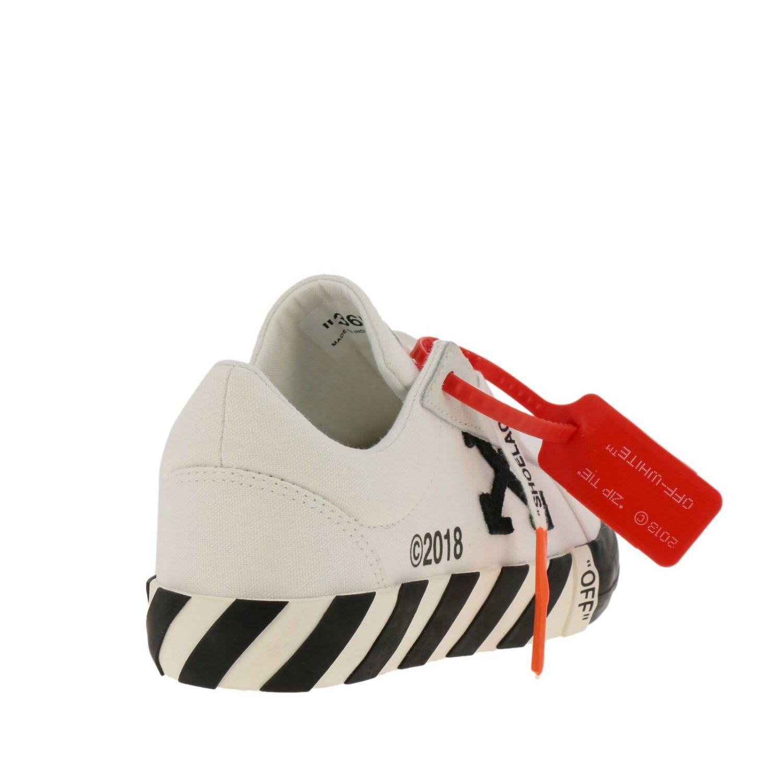 Sneakers in pelle con logo Off White bianco 5