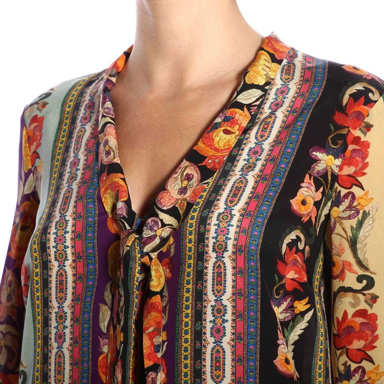 Блузка Etro: Блузка Женское Etro фуксия 4