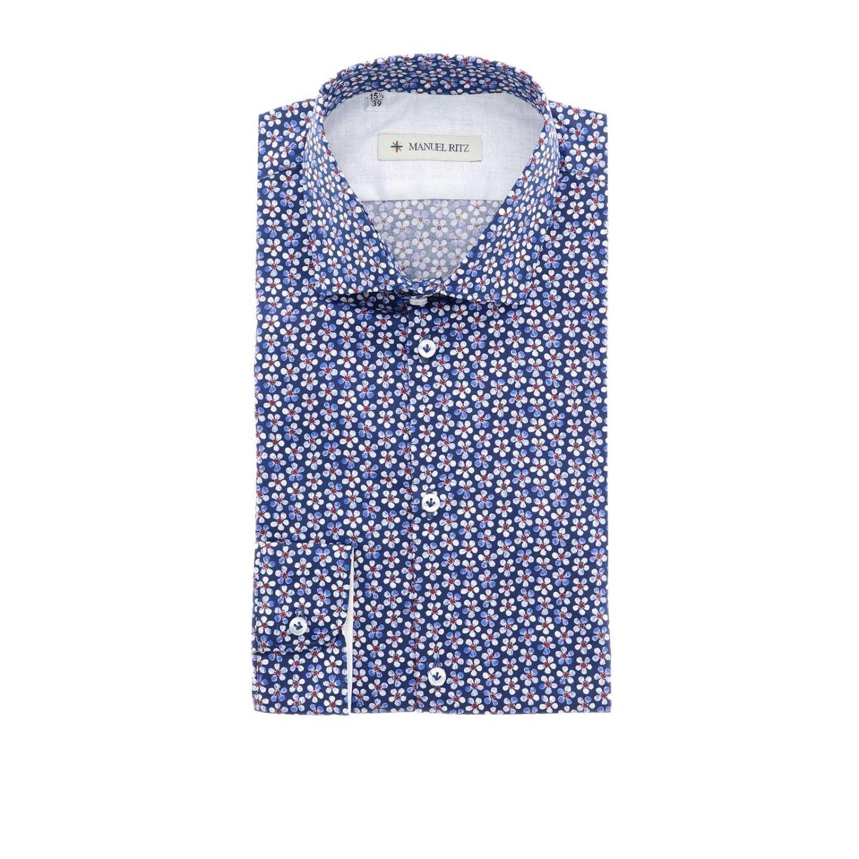 Shirt men Manuel Ritz blue 1