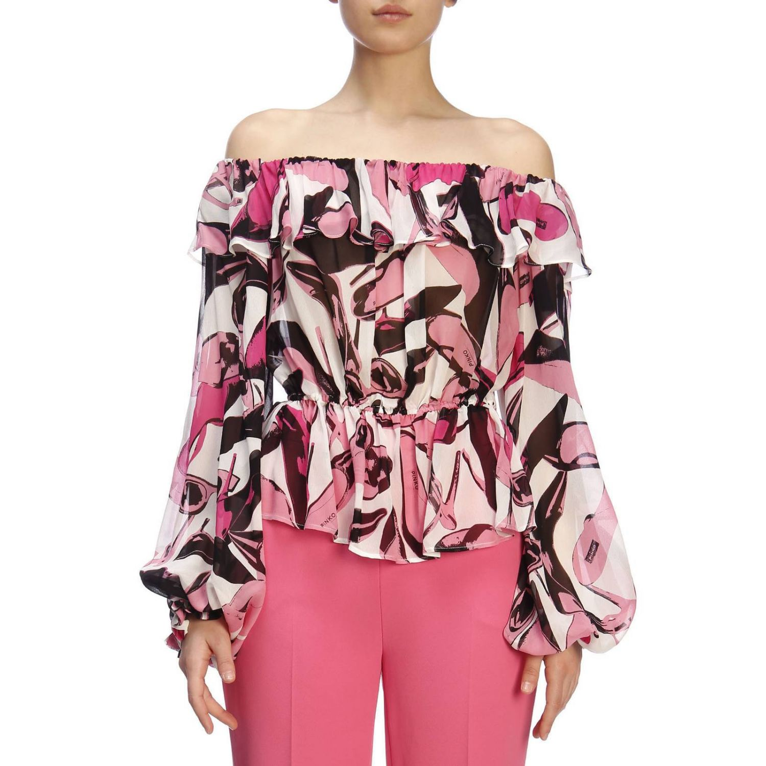 Pull femme Pinko Uniqueness rose 1