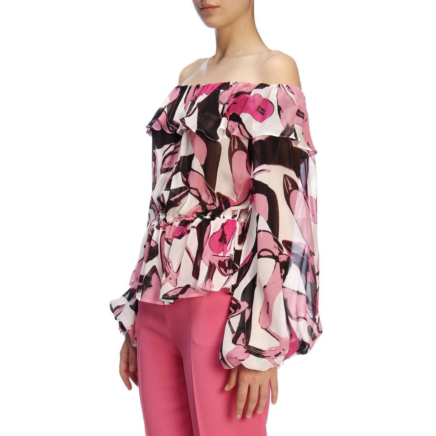 Pull femme Pinko Uniqueness rose 2