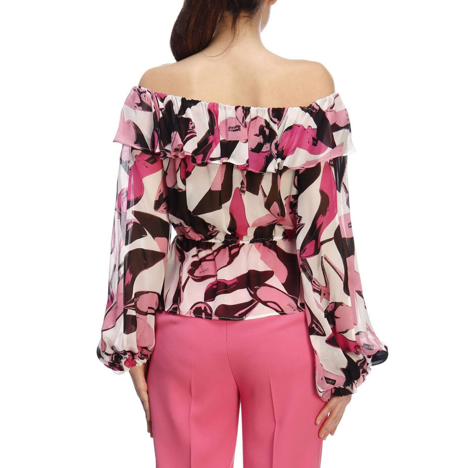 Pull femme Pinko Uniqueness rose 3