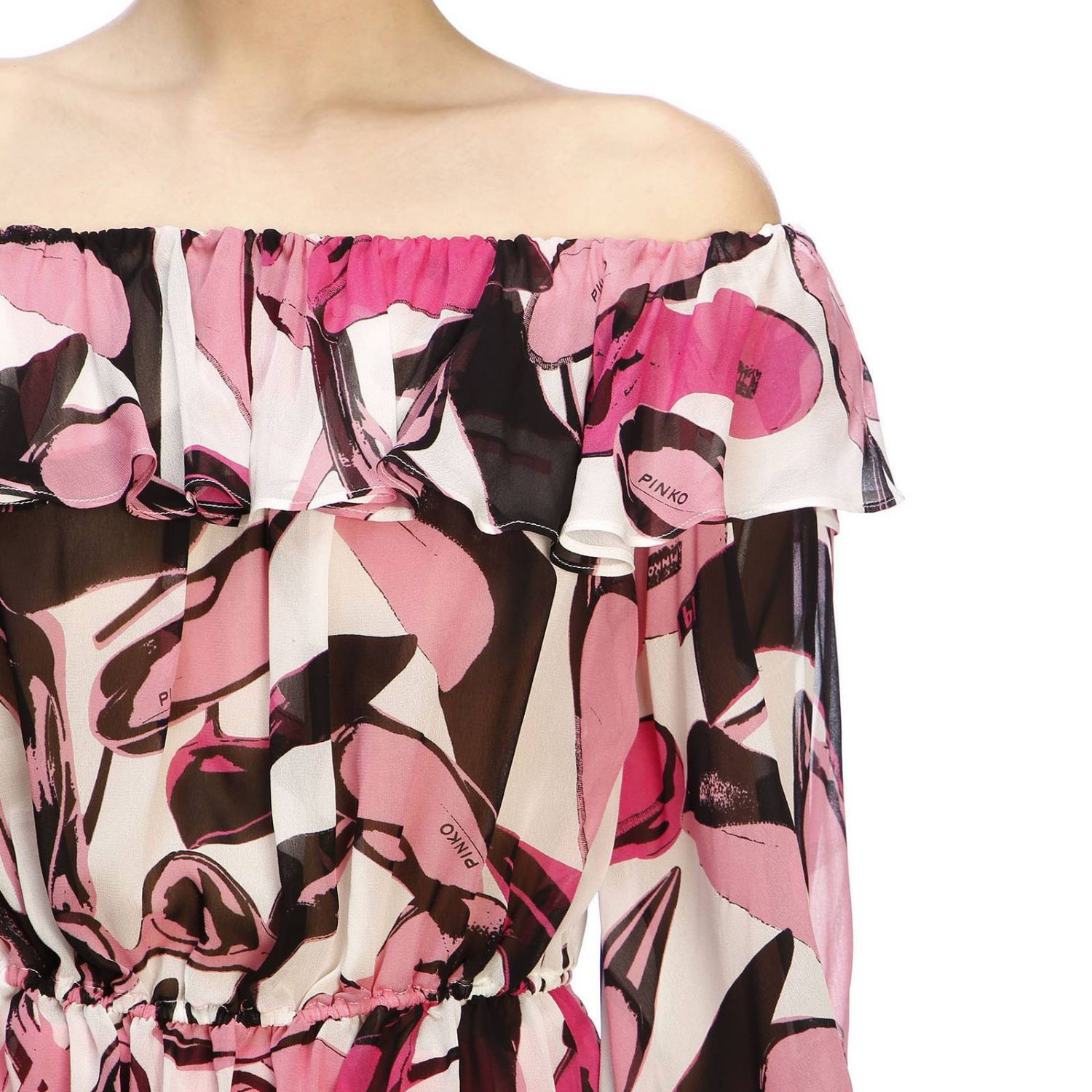 Pull femme Pinko Uniqueness rose 4