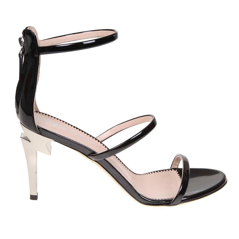 Босоножки на каблуке Женское Giuseppe Zanotti Design черный 1