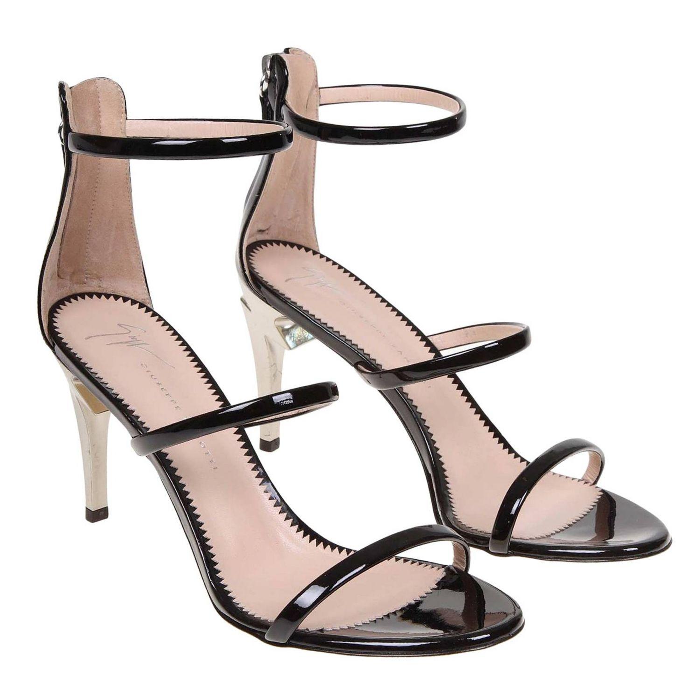 Босоножки на каблуке Женское Giuseppe Zanotti Design черный 2