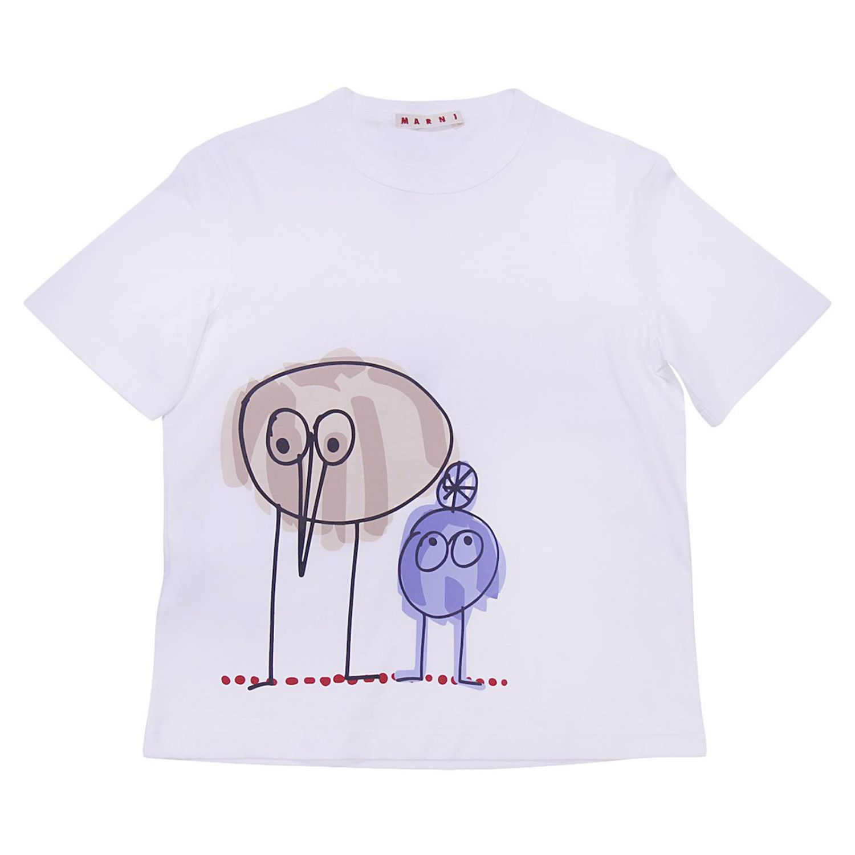 T-shirt enfant Marni blanc 1