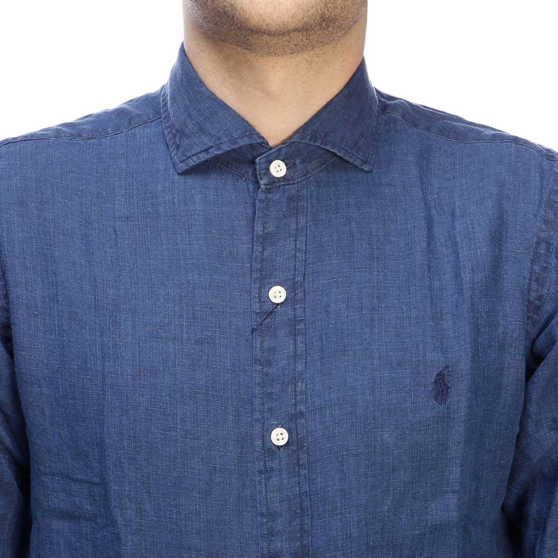 Camisa hombre Polo Ralph Lauren índigo 4