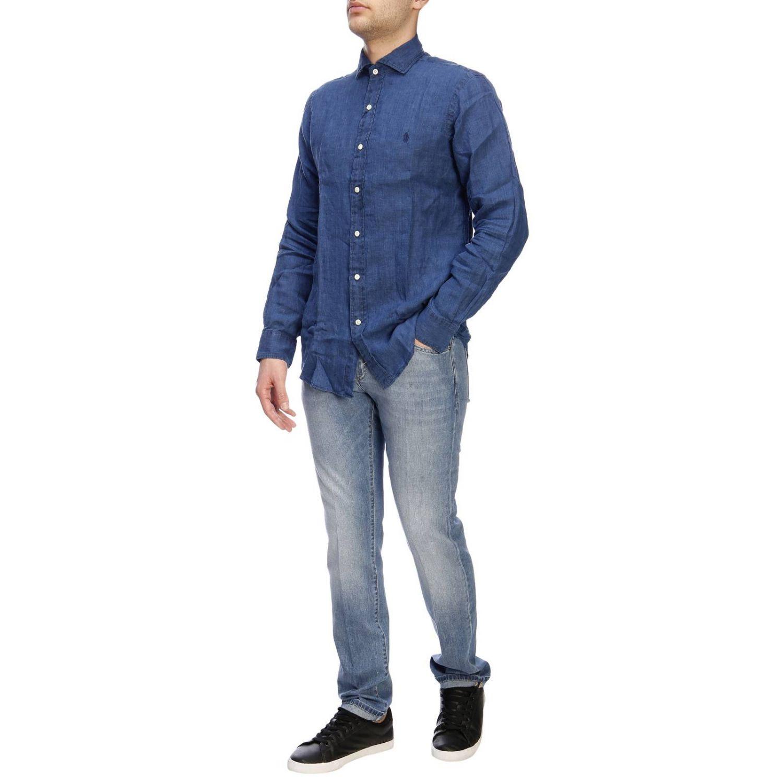 Camisa hombre Polo Ralph Lauren índigo 5