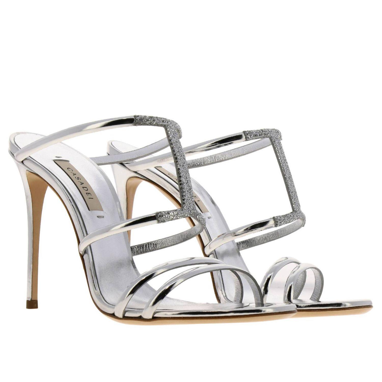 高跟凉鞋 女士 Casadei 银色 2