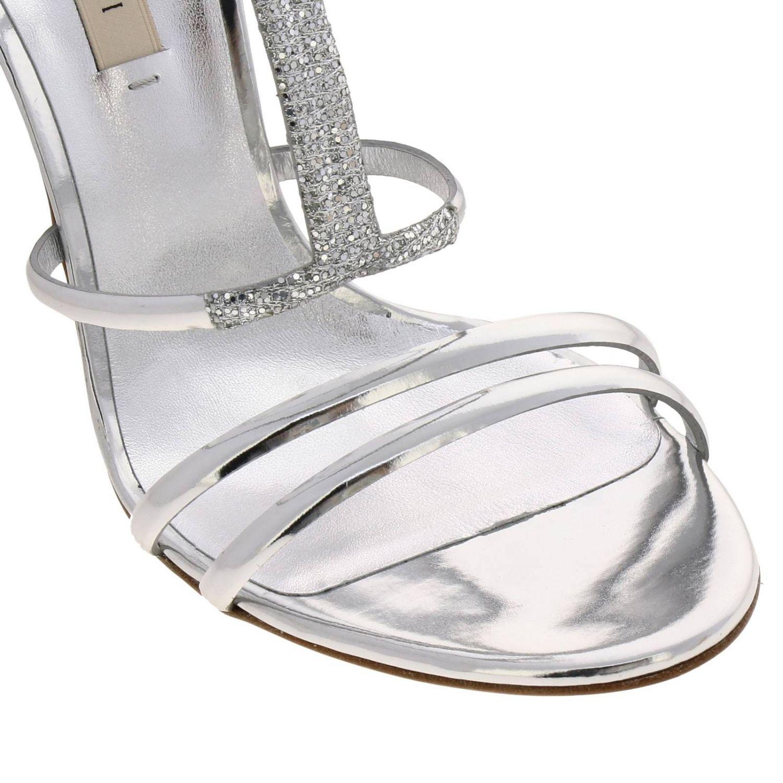 高跟凉鞋 女士 Casadei 银色 3