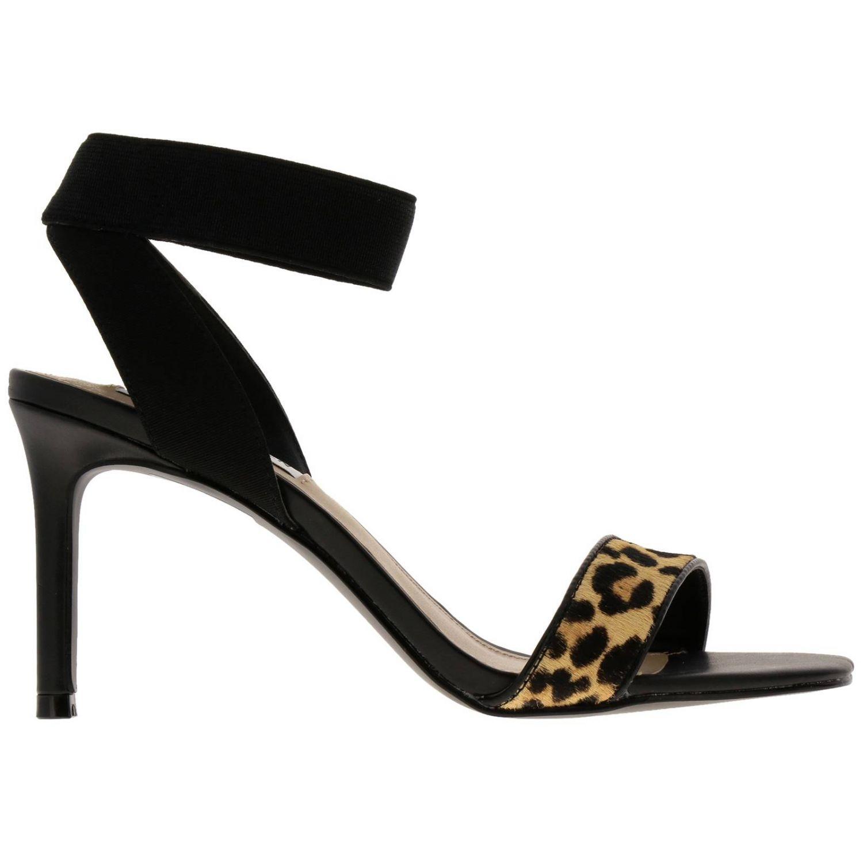 Steve Madden Fondu sandales à talons noir et léopard