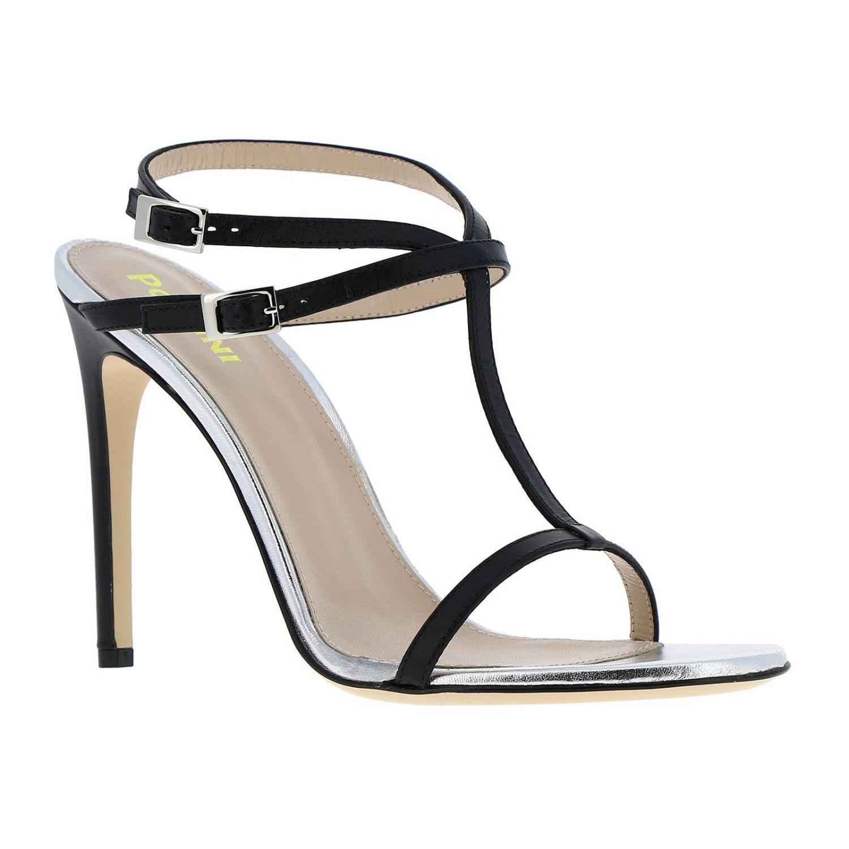 Sandales à talons femme Pollini bleu 2