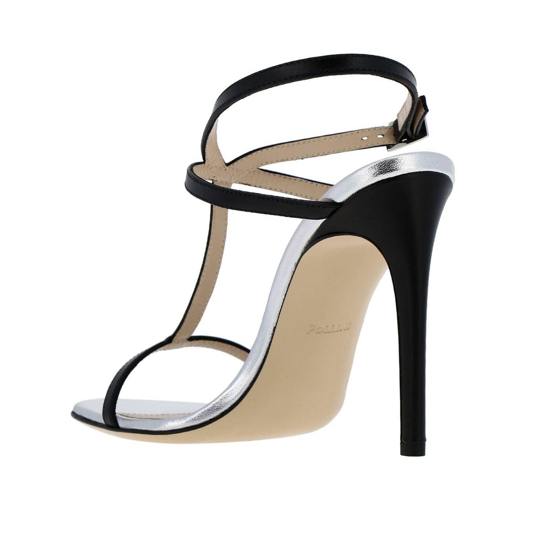 Sandales à talons femme Pollini bleu 4
