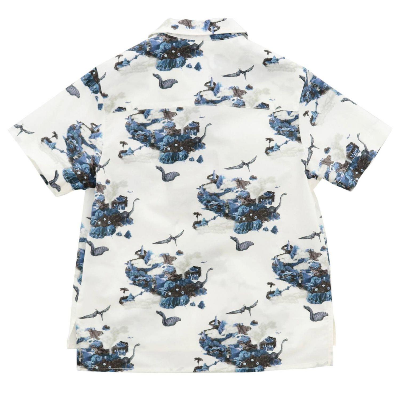 Camicia Lanvin a maniche corte con fantasia all over bianco 2