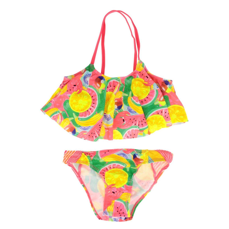 Costume Billieblush: Costume Billieblush con balza e stampe multicolor fantasia 1