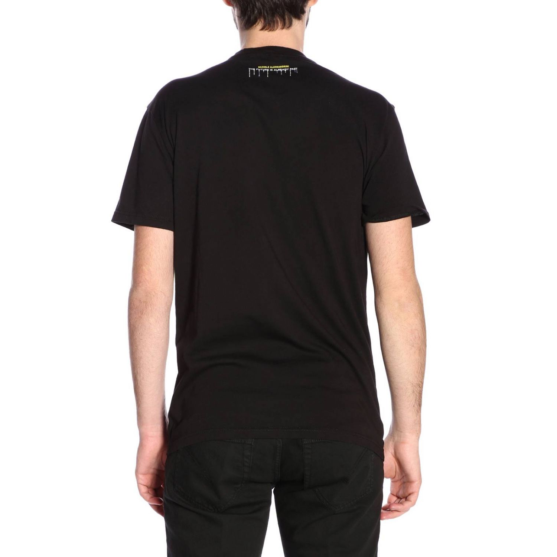 Camiseta hombre Daniele Alessandrini negro 3