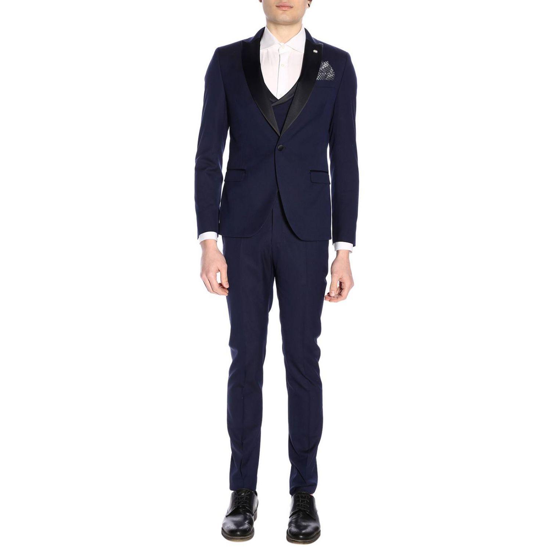 Классический костюм Мужское Manuel Ritz синий 1