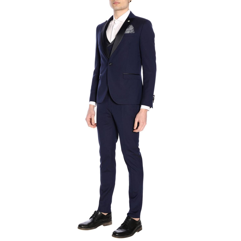 Классический костюм Мужское Manuel Ritz синий 2