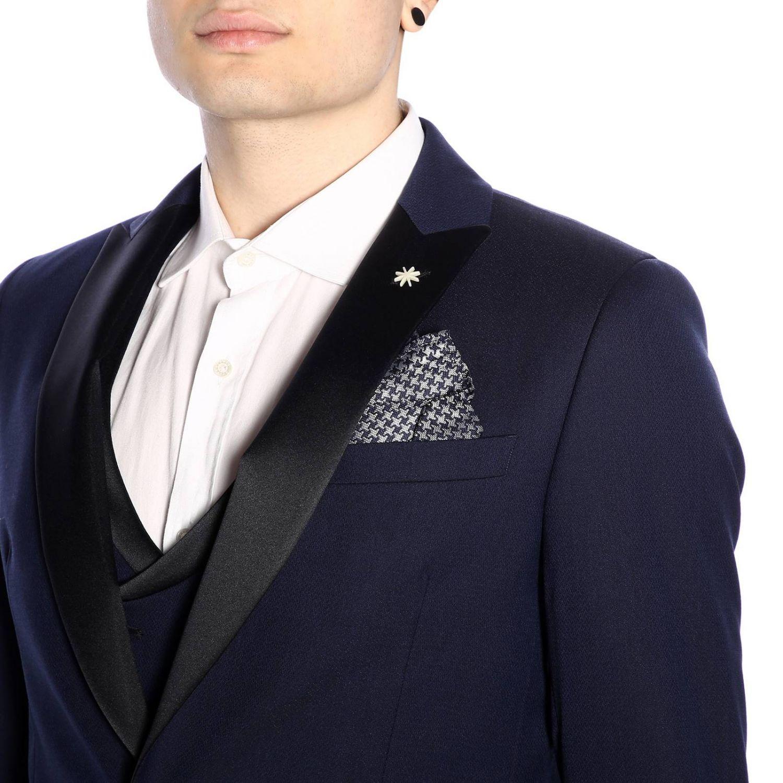 Классический костюм Мужское Manuel Ritz синий 5
